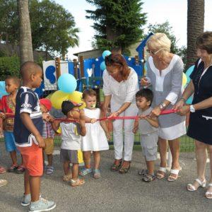 Une nouvelle aire de jeux au Centre d'Accueil Parents-Enfants Villa Excelsior à Cannes: un projet en partenariat