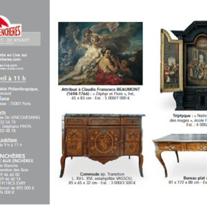 Vente aux enchères des meubles et objets anciens de la Société Philanthropique