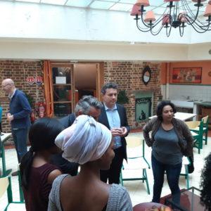 Établissements du 18ème : la visite du maire