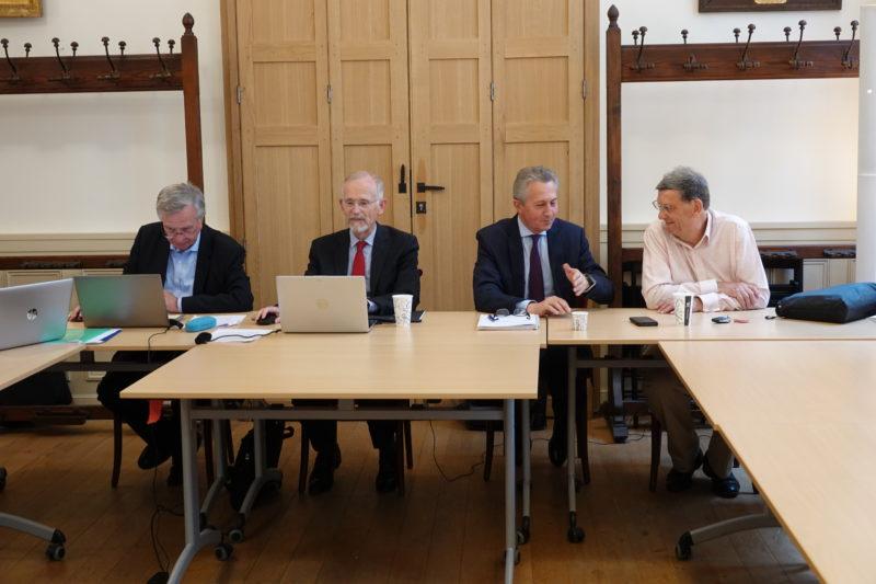 Assemblée générale 2020 de la Société Philanthropique : le Président, Louis de Montferrand, entouré de membres du bureau