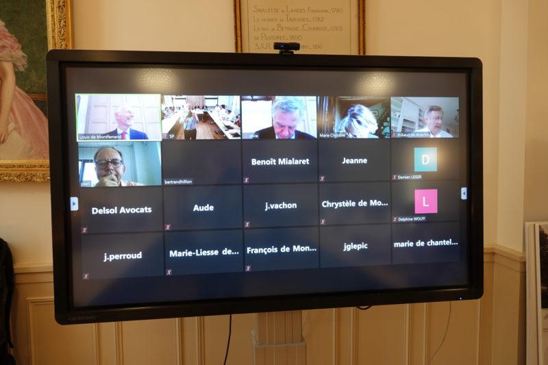 Assemblée générale 2020 de la Société Philanthropique : les participants en ligne