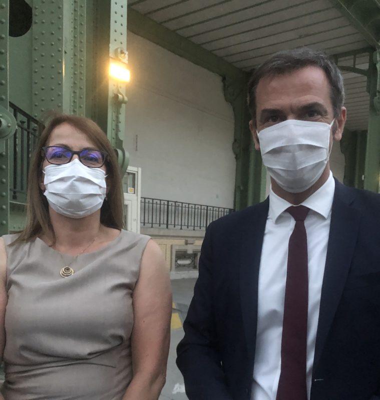 13-juillet-2020-Murielle-Henry avec Olivier-Véran