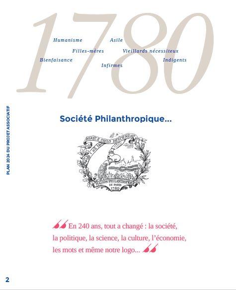 Page 2 Plan 2024 du Projet Associatif de la Société Philanthropique