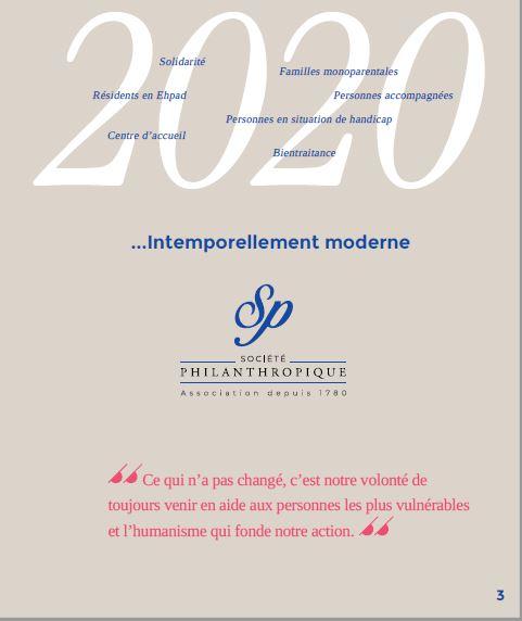 Page 3 Plan 2024 du Projet Associatif de la Société Philanthropique