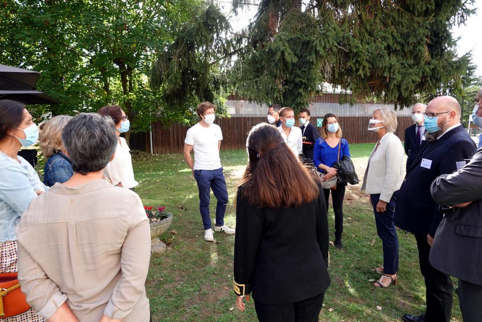 Un temps d'échange avec des parents d'enfants accueillis à l'IEM le Château de Bailly