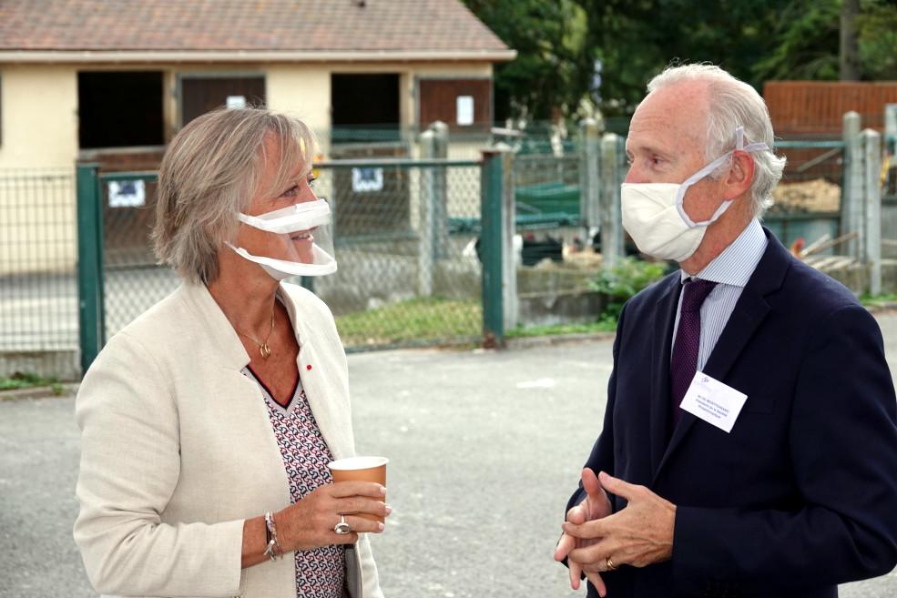 Sophie Cluzel, Sécrétaire d'Etat chargée des personnes handicapées, et Louis de Montferrand, Président de la Société Philanthropique