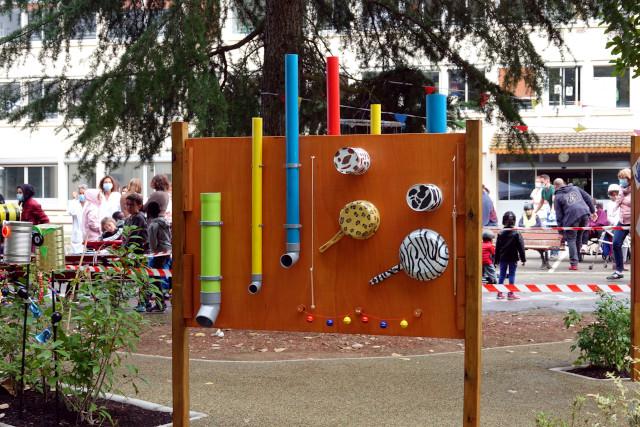 Vue du jardin sensoriel