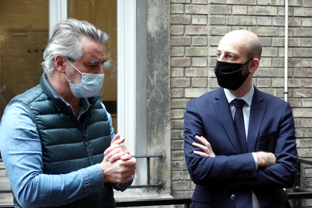 François Labarthe et Stanislas Guérini