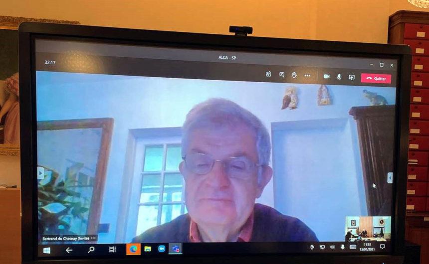 Marc Van Beneden, président d'ALCA, présent par visioconférence