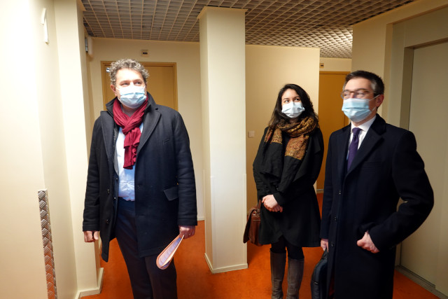 Eric Lejoindre avec ses adjoints, Marie-Laure Casier et Pierre-Yvain Arnaud