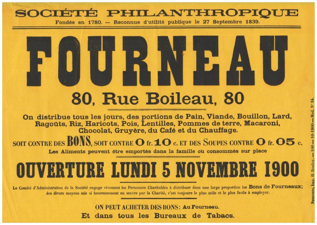 Affiche sur le fourneau de la rue Boileau