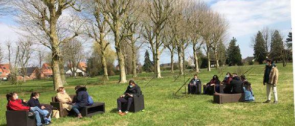 Maison Harmonia - tournage Merville - à l'extérieur