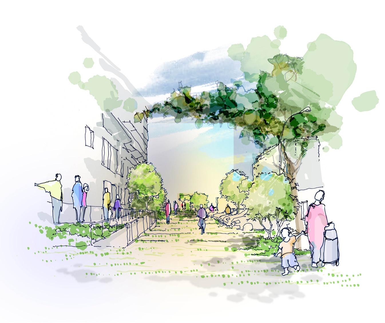 Vue d'artiste du futur bâtiment de la Résidence Greffulhe