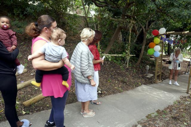 Les familles participent à l'évènement