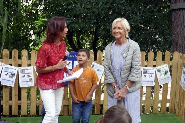 Sylvie Tosello, directrice de la Villa Excelsior, remercie les Enfants de Frankie